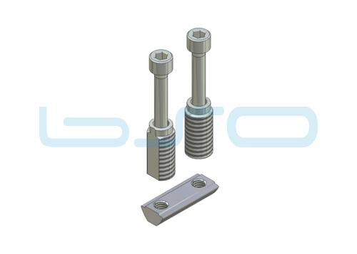 Combi-Einschraubverbinder Nut 5 doppelt potentialausgleichend Hülsenlänge 14 mm