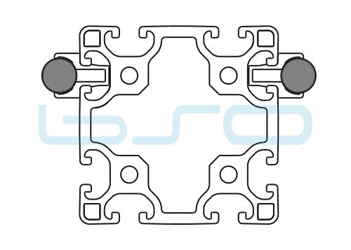 Schlitten Trägersystem Welle 14 Profil 80x80 leicht