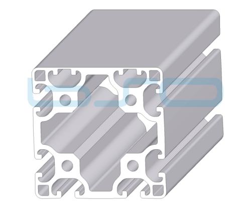 Alu-Profil Nut 8 80x80 leicht 2 Nuten geschlossen