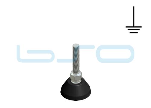 Stellfuß PA 40 M10x45 Edelstahl elektrisch leitend