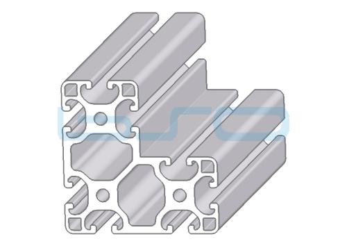 Alu-Profil Nut 8 80x80x40 leicht W-Serie