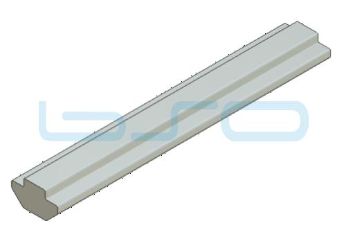Nutensteinprofil schwer Nut 8 Raster 40 Profilstab L=2 m - 50mm, mit Zentrierung