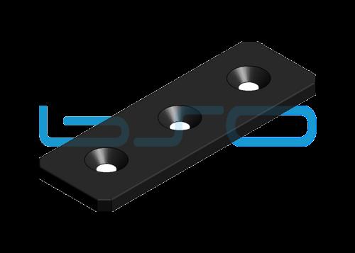 Verbindungslasche Stahl Nut 5 20x60x3