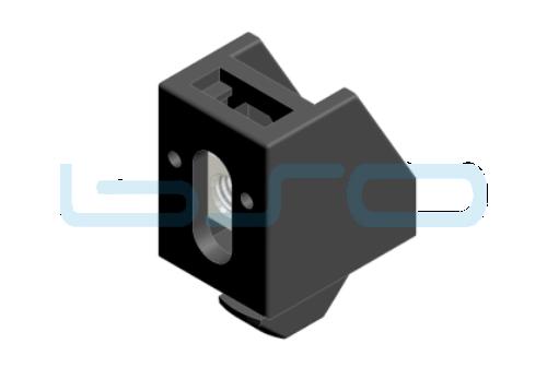 Uniblock mit Kunststoffhammer Nut 10 M6