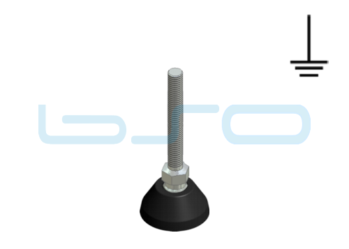 Stellfuß PA 40 M10x90 elektrisch leitend