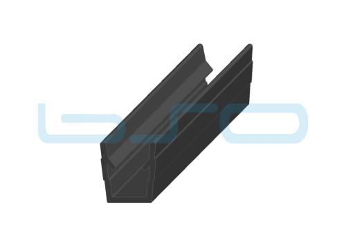 Abdeck-Einfaßprofil Nut 5 PP schwarz