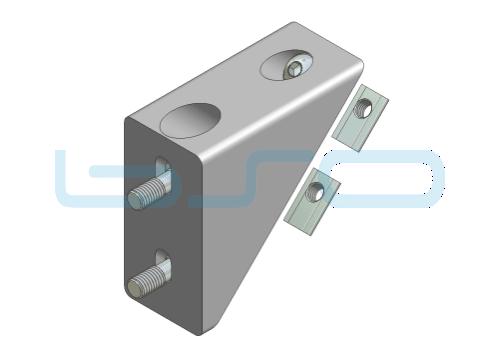 Winkelverbinder-Set Nut 8 40x80 alufarben