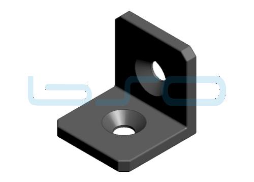 Winkel Stahl Nut 6 30x30
