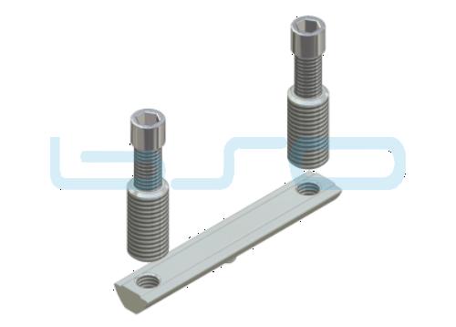 CEV-Verbinder Nut 8 doppelt Raster 40 Nutenstein L=80mm Potentialausgleichend