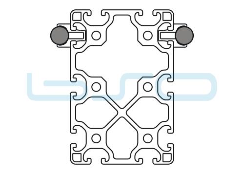 Schlitten Trägersystem Welle 14 Profil 80x120 leicht-v