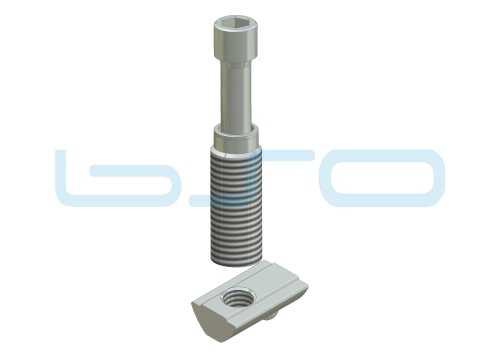 Combi-Einschraubverbinder Nut 8 L=32mm Hülse L=32mm Potentialausgleichend