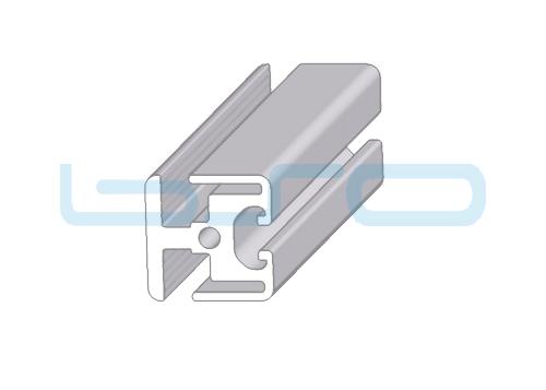 Alu-Klemmprofil Nut 8 40x40 doppelt 180° inkl Klemmleiste