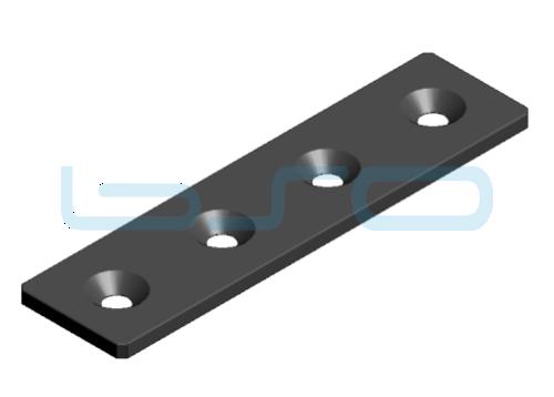 Verbindungslasche Stahl Nut 8 40x160