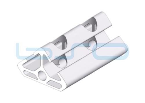 Winkel-Profilelement Nut 8 Raster 30 L=60mm 2x45 Grad