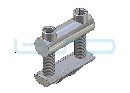 Profilverbinder doppelt Nut 10 Gewinde M8 L=45mm Potentialausgleichend