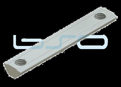 Nutenstein Profilverbinder Nut 8 Raster 40 Gewinde 2xM8 L=80mm