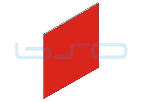Vollkunststoffplatte rot Melaminharz beschichtet 4mm