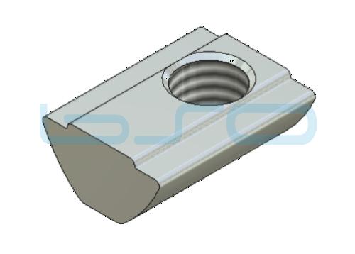 Sonder-Nutenstein Nut 8 Raster 40 u. 30 Gewinde M8 L=18mm mit Zentrierung