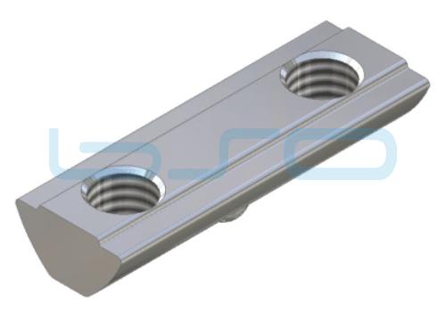 Nutenstein Profilverbinder Nut 5 Raster 20 Gewinde 2xM4 L=20mm