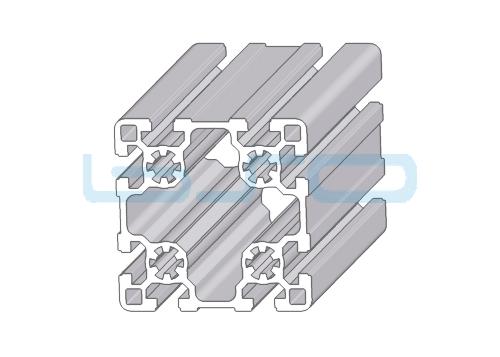 Alu-Profil Nut 10 90x90 leicht