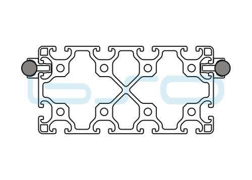 Schlitten Trägersystem Welle 14 Profil 80x160 leicht-h