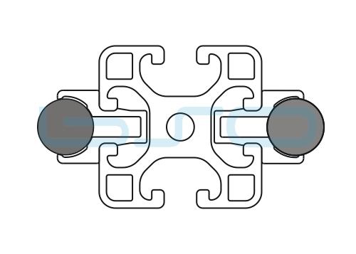 Schlitten Trägersystem Welle 14 Profil 40x40 leicht