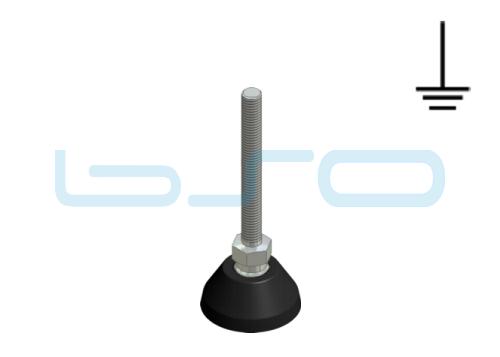 Stellfuß PA 40 M8x80 Edelstahl elektrisch leitend