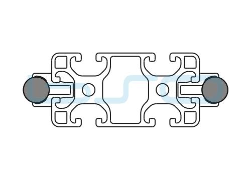Schlitten Trägersystem Welle 14 Profil 40x80 leicht-h