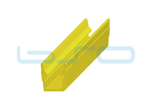 Abdeck-Einfaßprofil Nut 8 Raster 40 u. 30 PP gelb