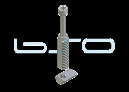 Combi-Einschraubverbinder Nut 5 mit Nut 10 Raster 45