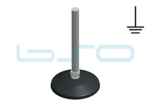 Stellfuß PA 80 M12x125 Edelstahl elektrisch leitend