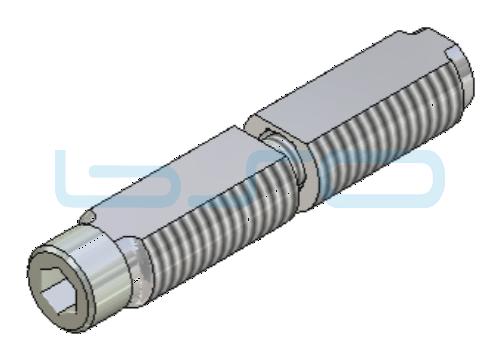 Combi-Einschraubverbinder Nut 8 Stoßverbinder 180° Raster 30