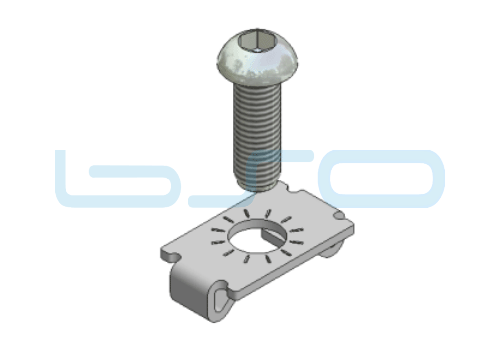 Standardverbinder Nut 8 selbstformende Schraube