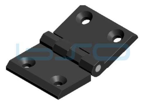 Scharnier Nut 10 76x50 Zink-Druckguß schwarz