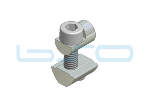 Profilverbinder einseitig Nut 8 Raster 30 M6 potentialausgleichend
