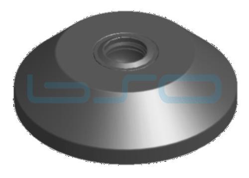 Stellfußteller Zink-Druckguß 80mm