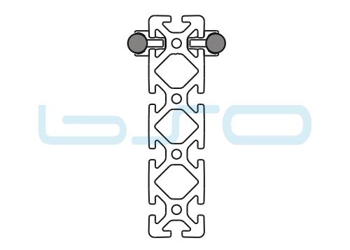 Schlitten Trägersystem W 14 Profil 40x160 schwer-v