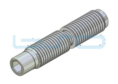 Combi-Einschraubverbinder Stoßverbinder 180° Nut 8 Raster 40