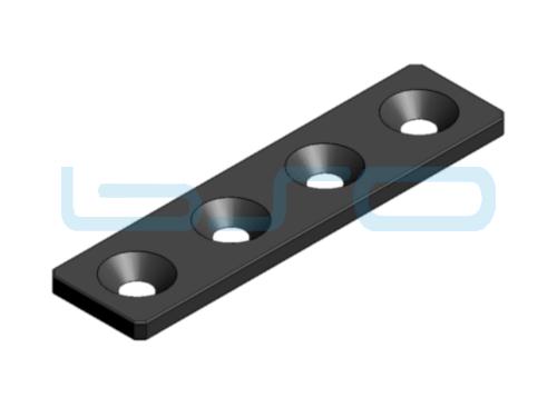 Verbindungslasche Stahl Nut 6 30x120x4