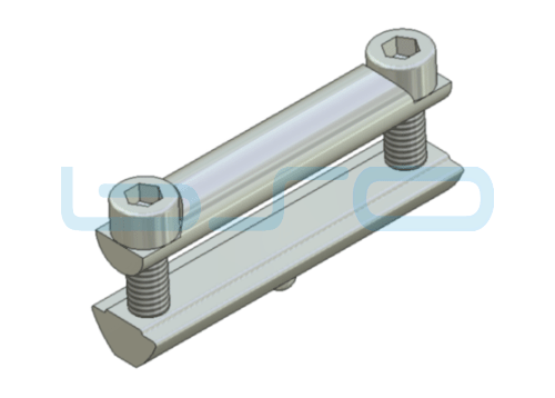 Profilverbinder Nut 8 Raster 30 L=60mm Gewinde M6 potentialausgleichend