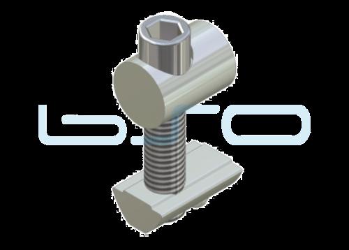 Profilverbinder einseitig beliebige Raster M8 Länge 16mm potentialausgleichend