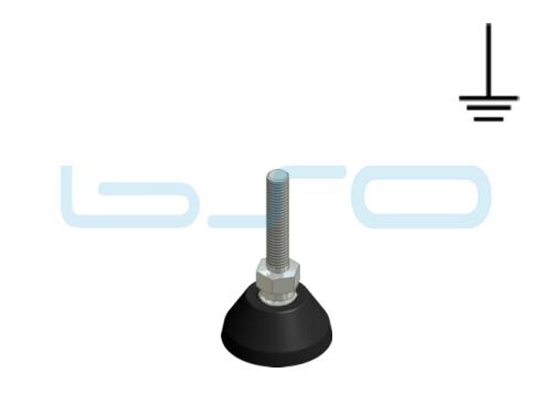 Stellfuß PA 40 M8x40 elektrisch leitend