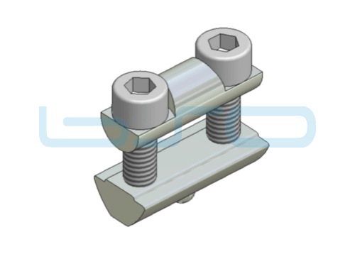 Profilverbinder Nut 8 Raster 30 L=30mm Gewinde M6 potentialausgleichend