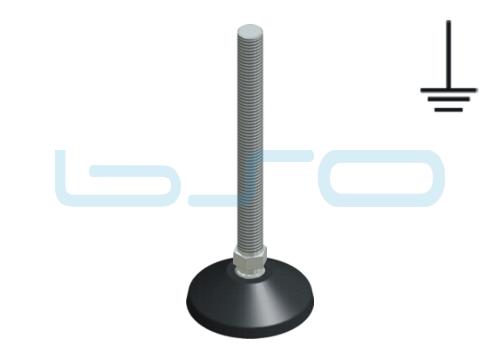 Stellfuß PA 60 M12x125 Edelstahl elektrisch leitend