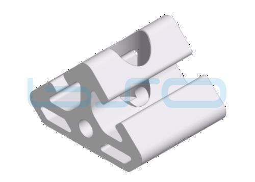 Winkel-Profilelement Nut 8 L=40mm 2x45 Grad