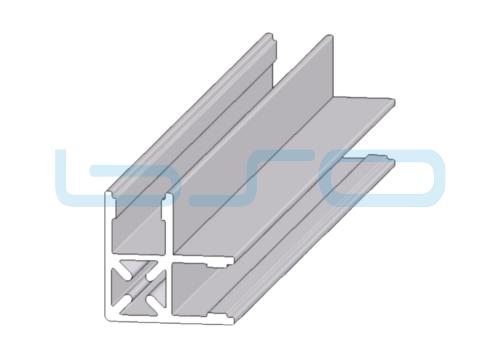 Plattenklemmprofil Nut 10 Eck-Profil 90°