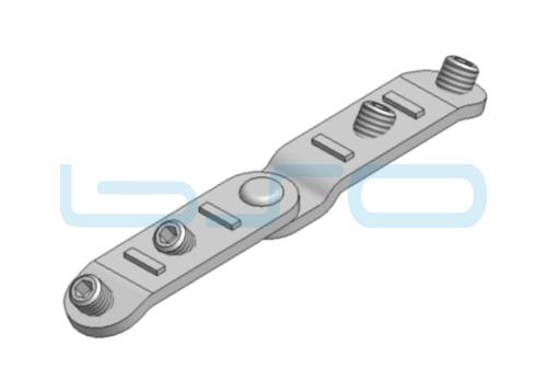Gehrungsverbinder variabel 180° Nut 8 Links-Rechts