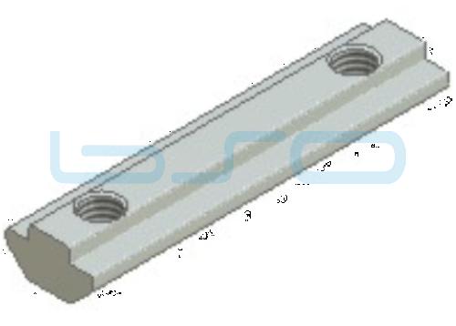 Nutenstein schwer Nut 8 Raster 40 Gewinde 2xM8 L=70mm