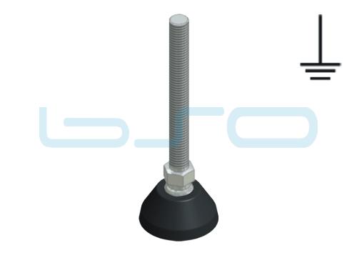 Stellfuß PA 45 M12x125 Edelstahl elektrisch leitend