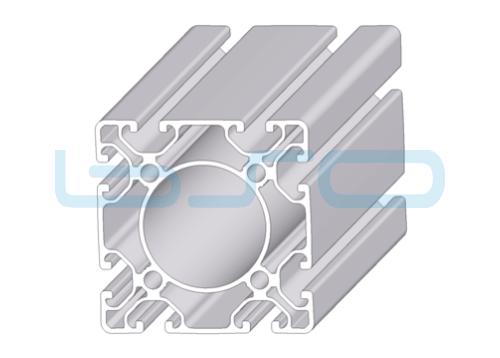 Alu-Profil Nut 8 80x80 leicht ECO